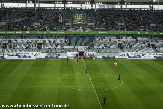 Das Stadion in Wolfsburg bei der letzten Begegnung mit Mainz 05. (Foto: Rheinhessen on Tour)