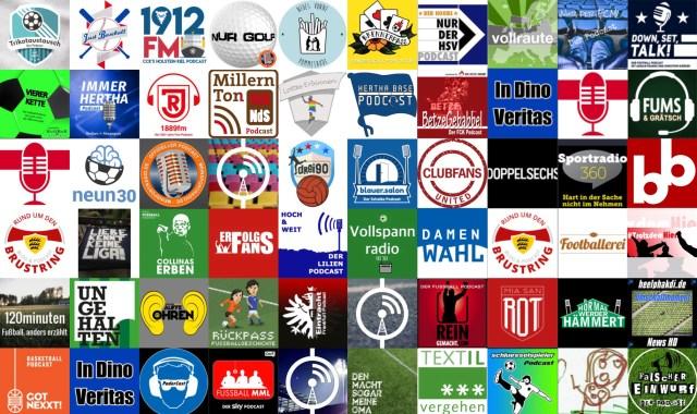 Für jeden was dabei: Die Podcast-Landschaft in Sachen Sport wächst und wächst. (Montage: Rasenfunk)