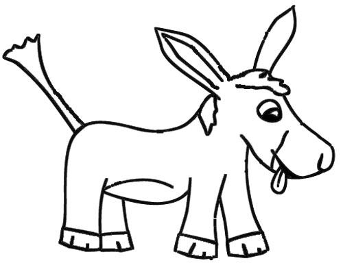 Lustiger Esel Malvorlage und Zeichenvorlage