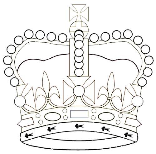 Krone eines Königs Malvorlage