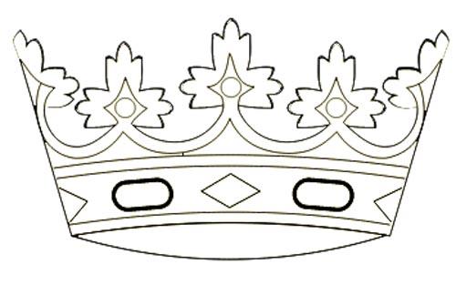 Krone einer Königin Ausmalbild