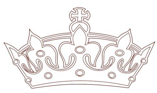 Krone einer Prinzessin Malvorlage