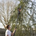 The WORX pole saw in action