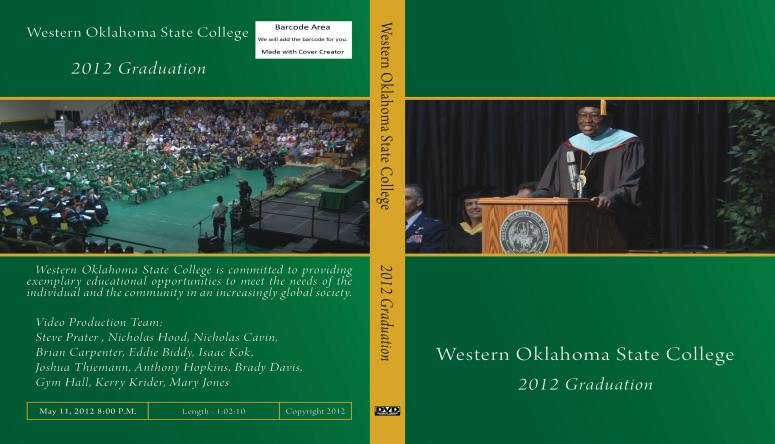 Commencement DVD  Western Oklahoma State College  Altus OK