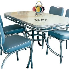 50's Kitchen Table And Chairs Ventilator American Diner Furniture | Retro Sets 50s ...