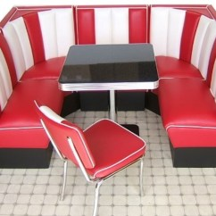 50's Kitchen Table And Chairs End Cabinet Retro Booths | Combination Diner Bel ...
