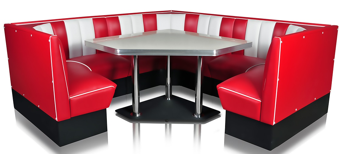 Retro Booths  Combination Diner Booths  Diner Booths Bel