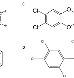 figure 4 11 examples of carcinogens disposed of in the love canal a and b are representations of benzene in a all of the atoms in benzene are shown  [ 1660 x 932 Pixel ]