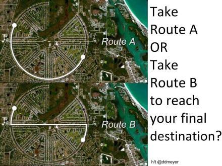 Route A vs B