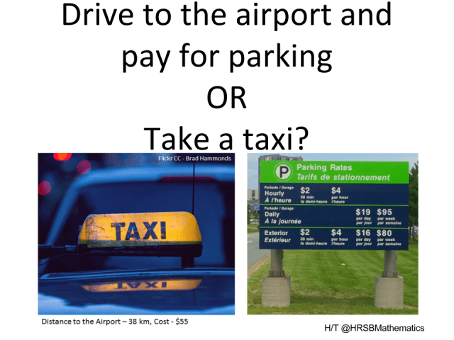 Parking vs. Taxi