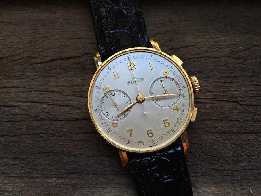 angelus gold chronograph