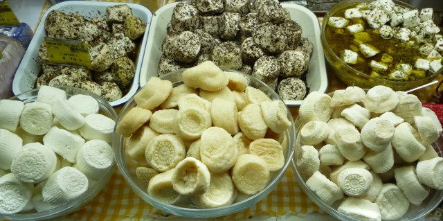 A variety of fresh and cured Sheep's Milk Cheeselets from Malta - photo found on Wiki Commons and attributable to Chattacha
