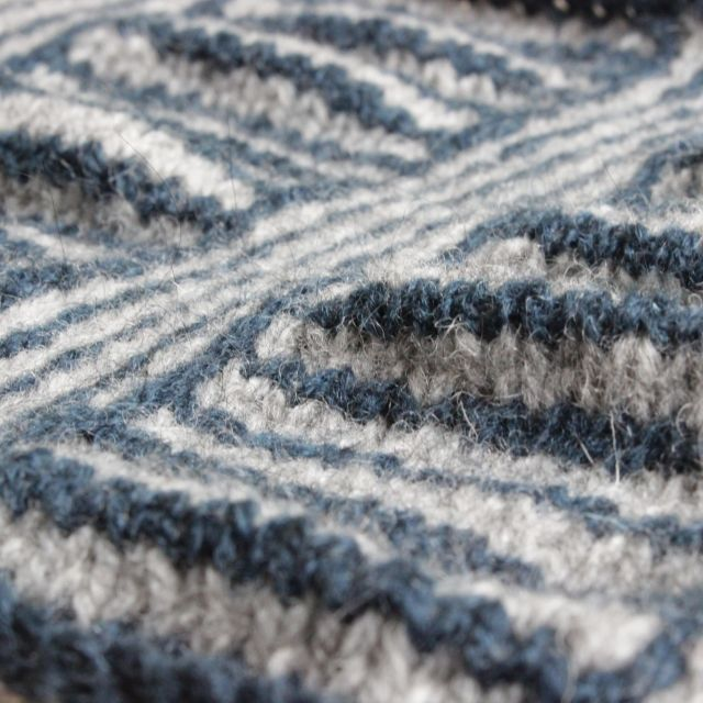 Swatch worked in Isle Yarns