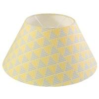 Grey and Yellow Lamp Shade - Zig Zag - Woven Oak