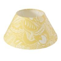 Yellow Lamp Shade - Bloom - Woven Oak