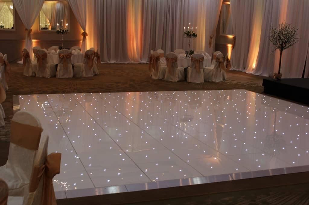 led dance floor wow weddings