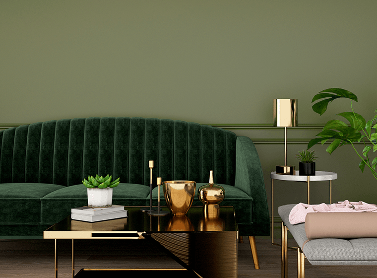 Create The Perfect Olive Green Living Room Aria Painting