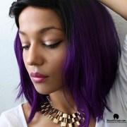 hot purple bob brazilian ombre