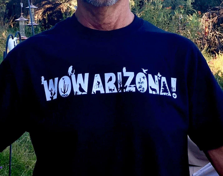 Men's WOW Arizona Tee in black