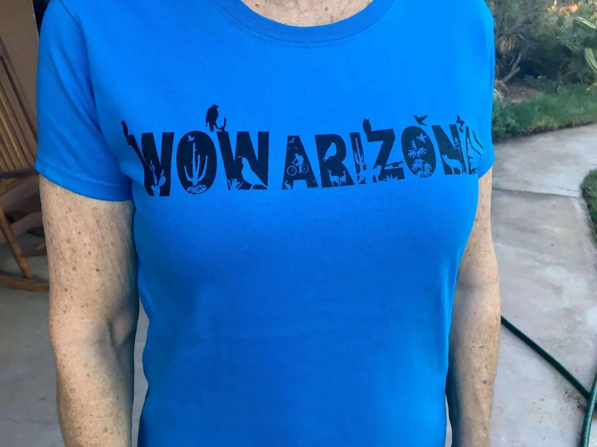 Women's WOW Arizona Tee in blue