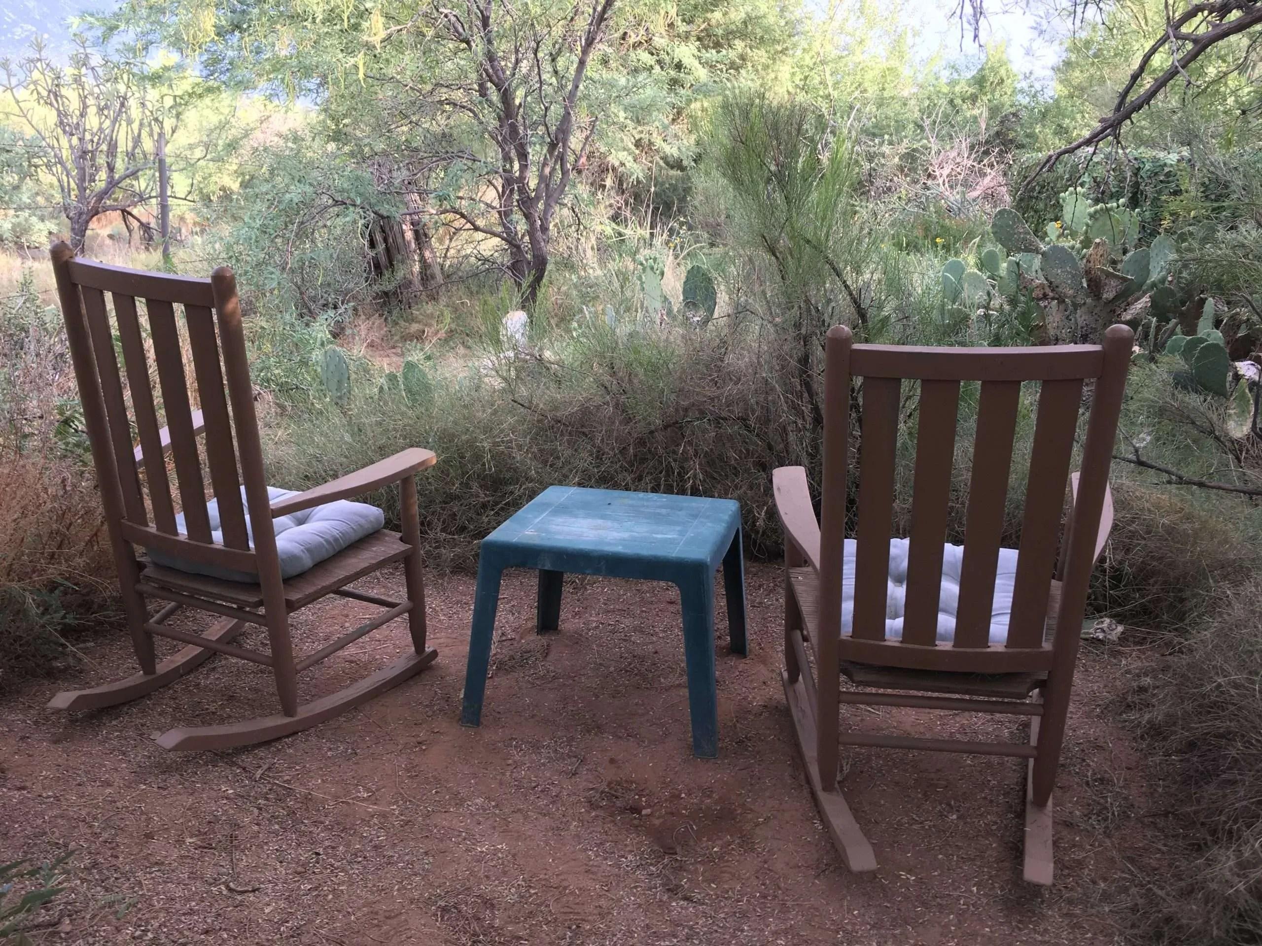 Bird Shower Sitting Area