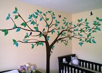 PopDecors  Super Big Tree Wall Decal-133inch W ...