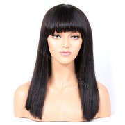 indian remy hair full bangs yaki