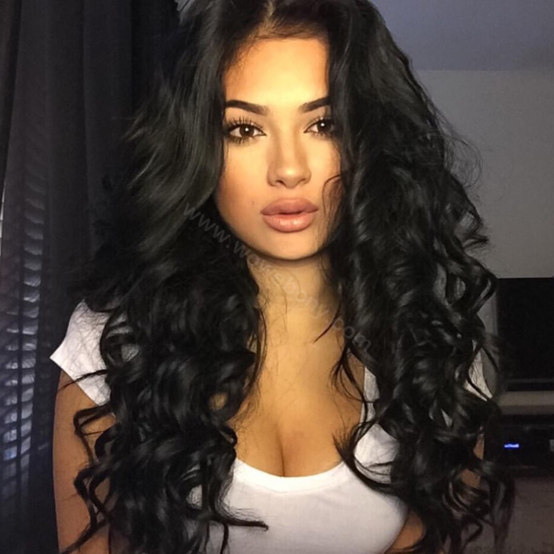 Lace Front Wigs Peruvian Human Hair Loose Wave  WowEbonycom