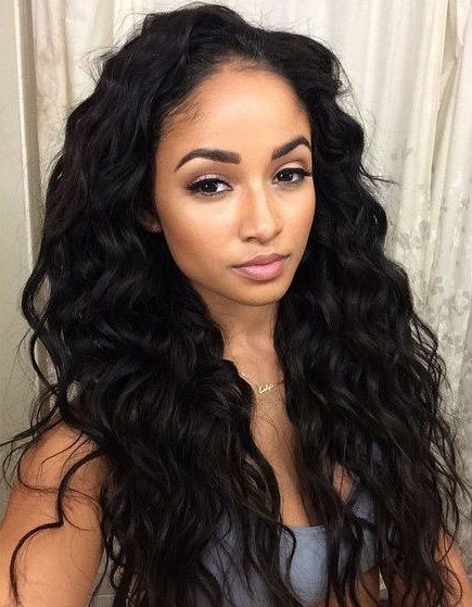 Wowebony 6 Inches Deep Part Loose Long Curls Lace Front Wigs
