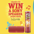 Sony Speaker with Pringles