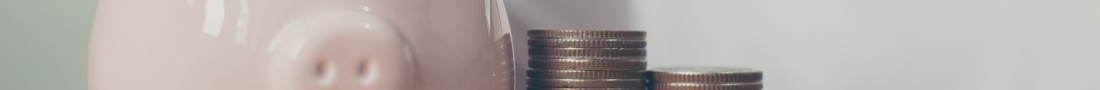 Piggy bank and money saving