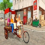 City Public Cycle Rickshaw Driving Simulator