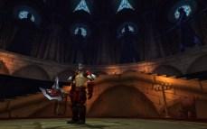 Armsmaster Harlan no Santuário Escarlate, no Monastério Escalate