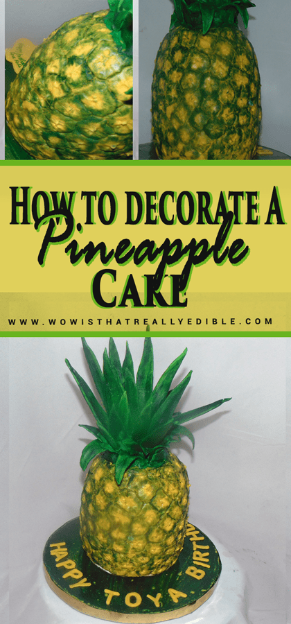 How to Decorate a Pineapple Cake