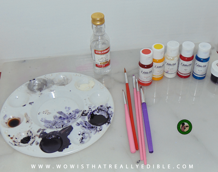 hand painted cake supplies