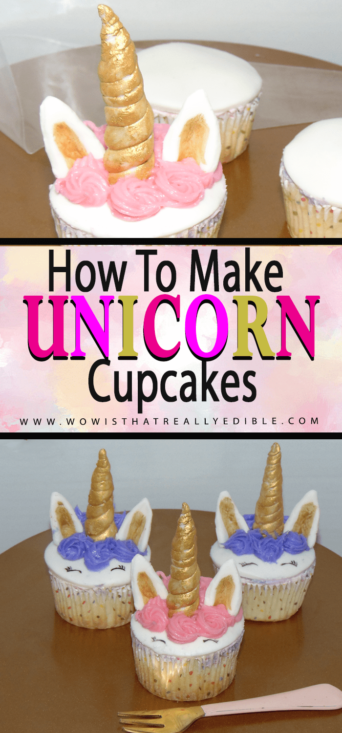 How to make Unicorn Cupcakes Easy Tutorial