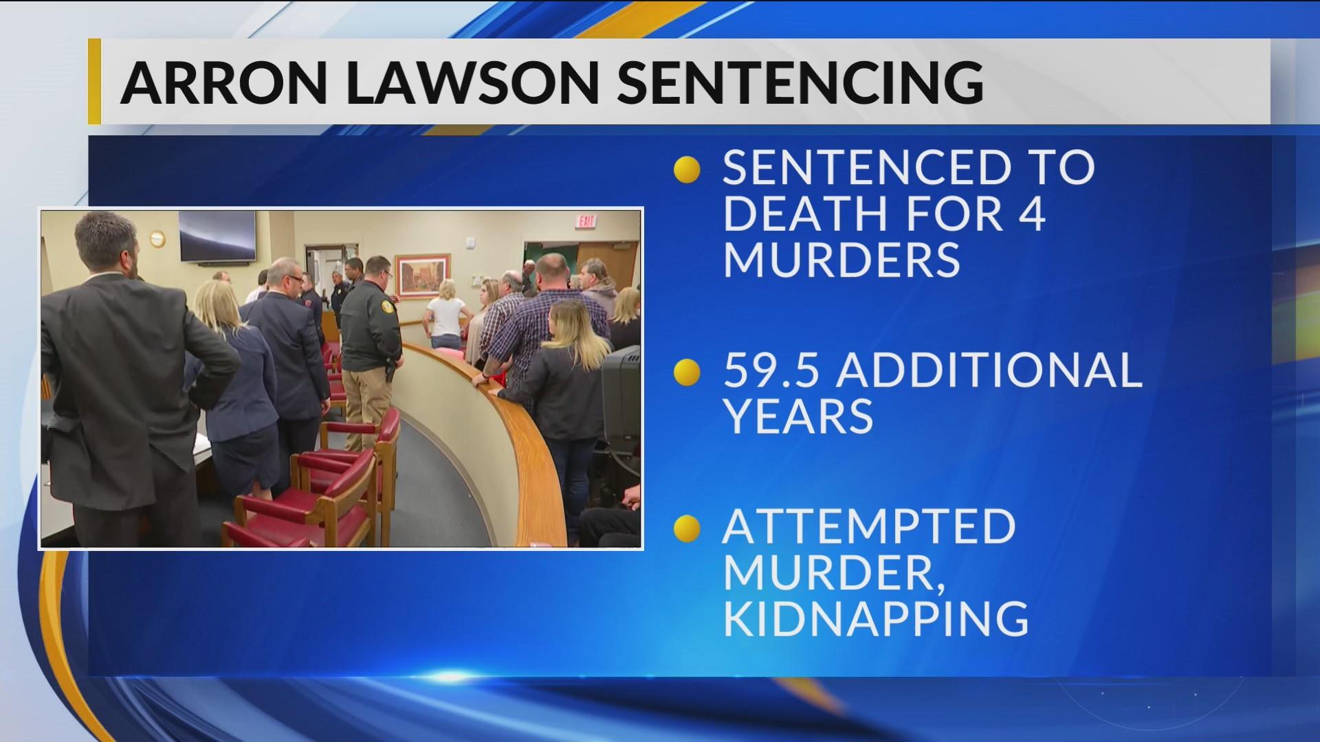 Arron Lawson Sentenced to Death for Quadruple Murder