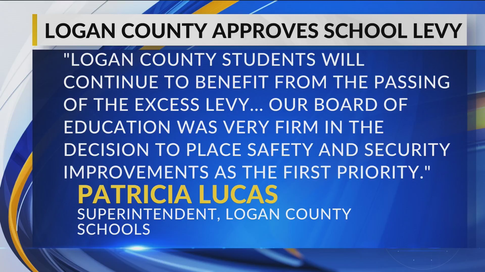 Logan County Voters Approve $44.5 Million School Levy