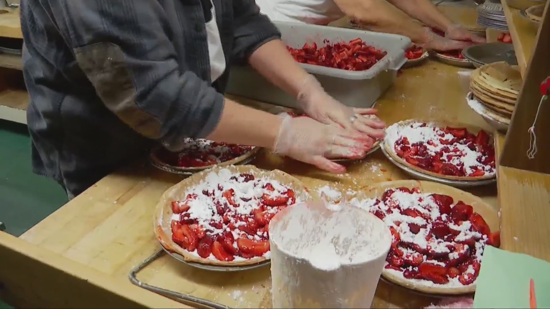Strawberry pie week underway at Jim's Spaghetti