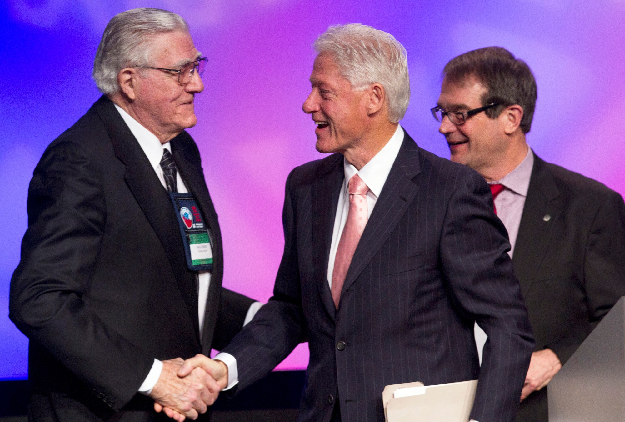 Bill Clinton, Bob King, Owen Bieber