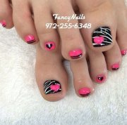 gorgeous toe nail art design