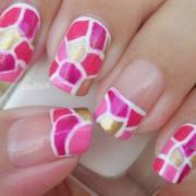 fascinating pink nail art design