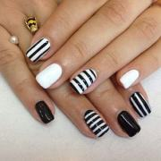 fabulous white and black nail art