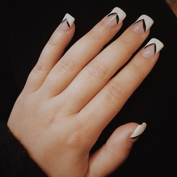 Fabulous White and Black Nail Art Designs That Will Charm