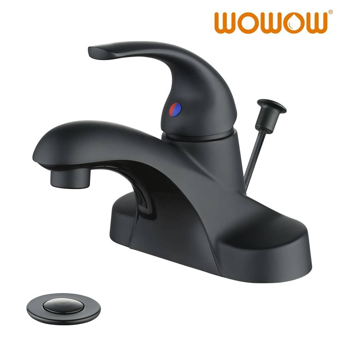 wowow single handle bathroom faucet matte black