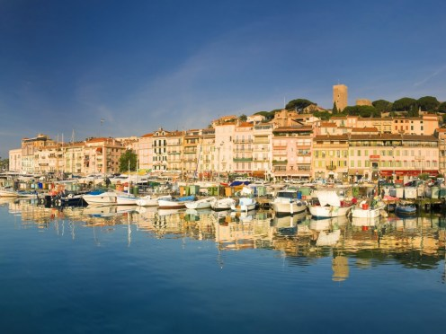 Cannes, France --- Vieux Port and old quarter of Le Suquet, Cannes --- Image by © Michele Falzone/JAI/Corbis