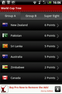Cricket Worldcup 2011 Live Android App