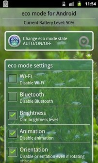 Eco Mode Android App