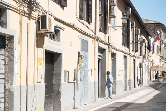 Corso Manthoné deserto, a Pescara