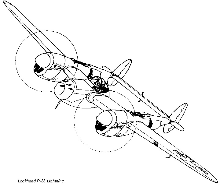 P 38 Lightning Schematic, P, Free Engine Image For User